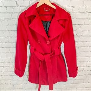 Medium Jou Jou Candy Apple Red Pea Coat